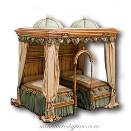 minature doll house furniture. Made To Order--Sheraton Summer Bed $1,100.00 Minature Doll House Furniture D