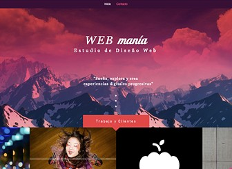 Estudio de diseño web Template - Show off your work with this bold, exciting template. With a gorgeous portfolio gallery right on the homepage and only one additional page for contact, keep it simple yet stand out from the crowd. Your website should be daring as your work, so look no further.