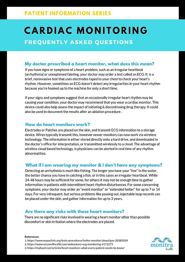 Patient Info Series - Cardiac Monitoring