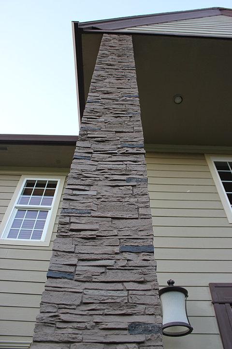Stacked Stone Column Wrap : Slatestone column wraps
