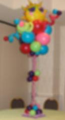 Tall Summer Themed Balloon Centerpiece