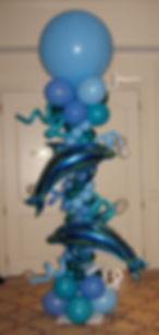 Dolphin Themed Balloon Column