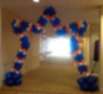 Walk Through Balloon Star Entrance