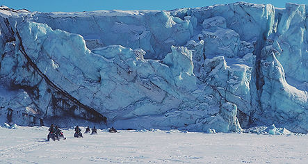 зимние снегоходные туры на шпицберген арктика сафари на снегоходах