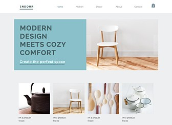 Home decor website template wix for Home decor shopping websites