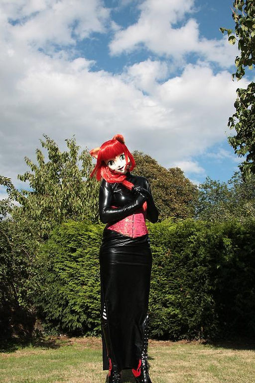 suechan - black zentai dress