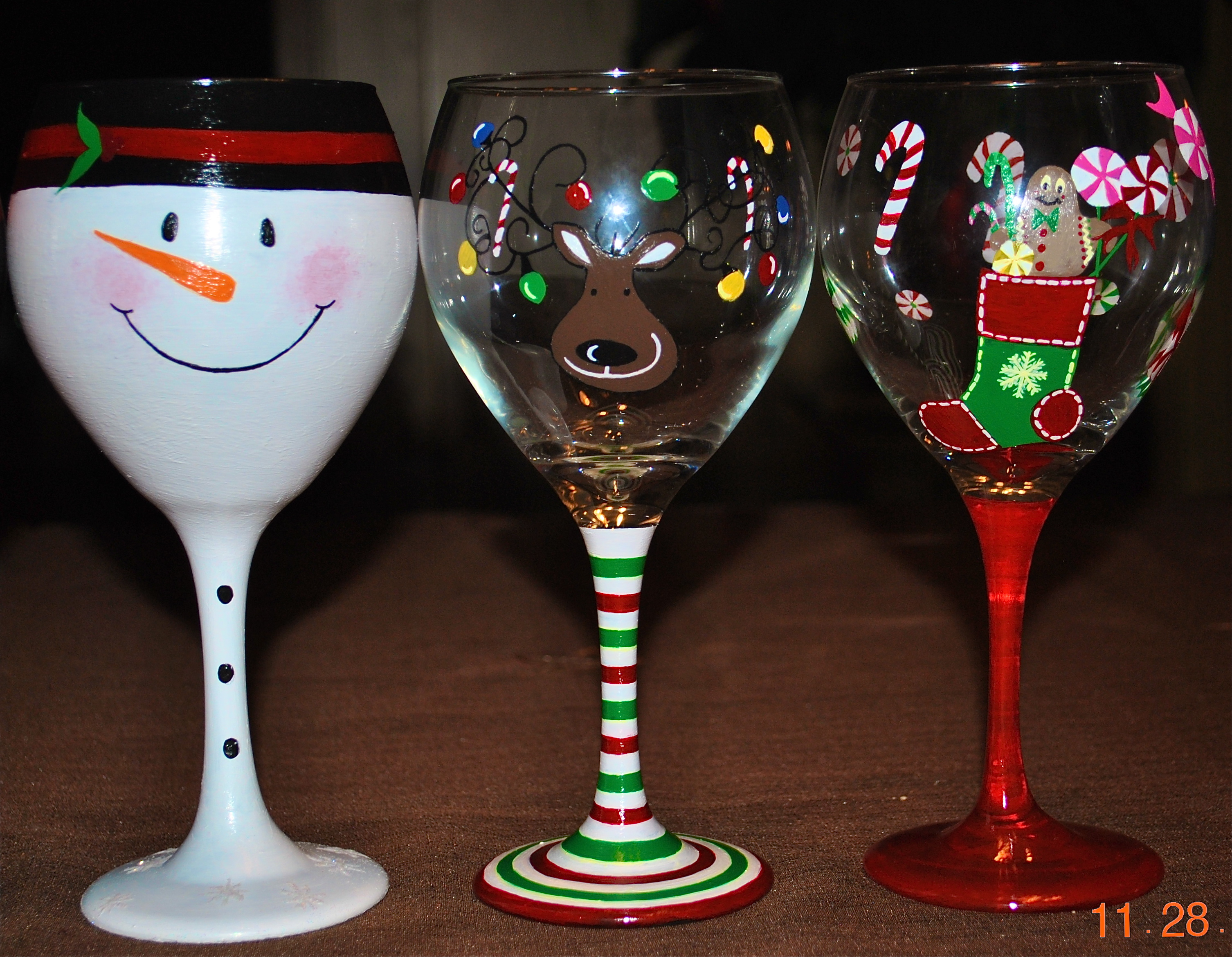 Craft Ideas For Painting Wine Glasses