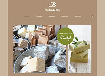 Beauty Care Template - This template's earthy colors and natural theme make it the ideal match for your skincare or cosmetics company. Upload images of your products and customize the text to share your beauty philosophy. By adding items to their cart, customers can make purchases with ease.