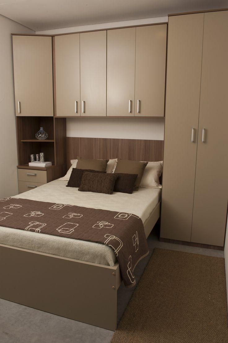 Quarto Casal Planejado Apartamento ~ Truques para o pequeno quarto de casal com guarda roupa (Parte 2