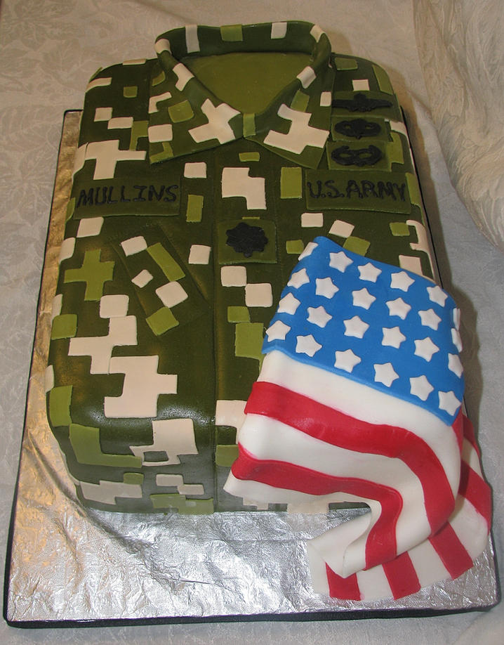 Promotion Cakes For Army Army Retirement Cake