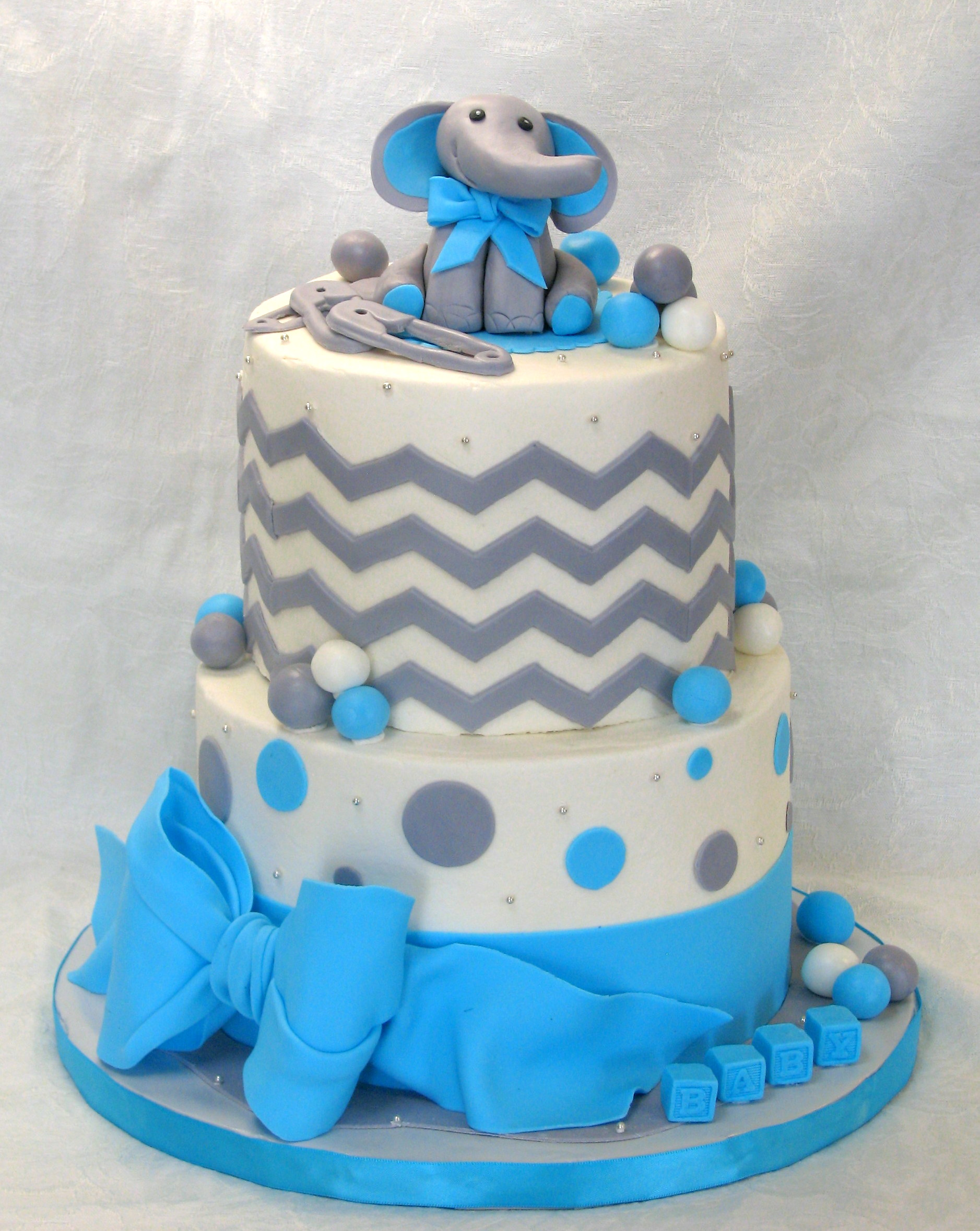 bella cakes by thena elephant baby shower