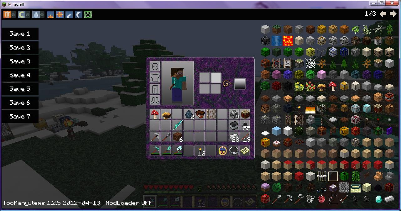 скачать мод toomanyitems для minecraft 1.8.9 #11