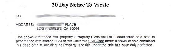 Delay 30 Day Notice To Vacate In California