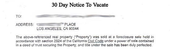 30 Day Notice to Landlord California California 30 Day Notice to