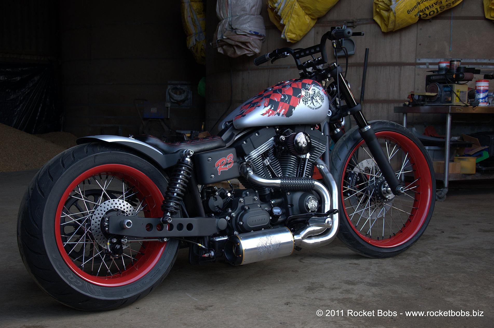 Custom Harley Davidson Street Bob Build Voodoo Bob