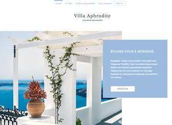 Location de Villa Template - Give you guests a tease of what's on offer with this bright and alluring website template for your villa. The large sized images and elegant slideshow gallery allows you to showoff your villa or guest house and attract visitors from across the globe. Simply click edit and start customizing both the image and text to create a website that's as attractive as your accommodation.