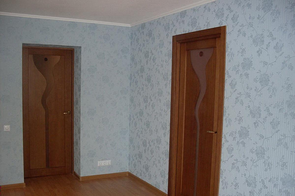 Фото оклеенных комнат