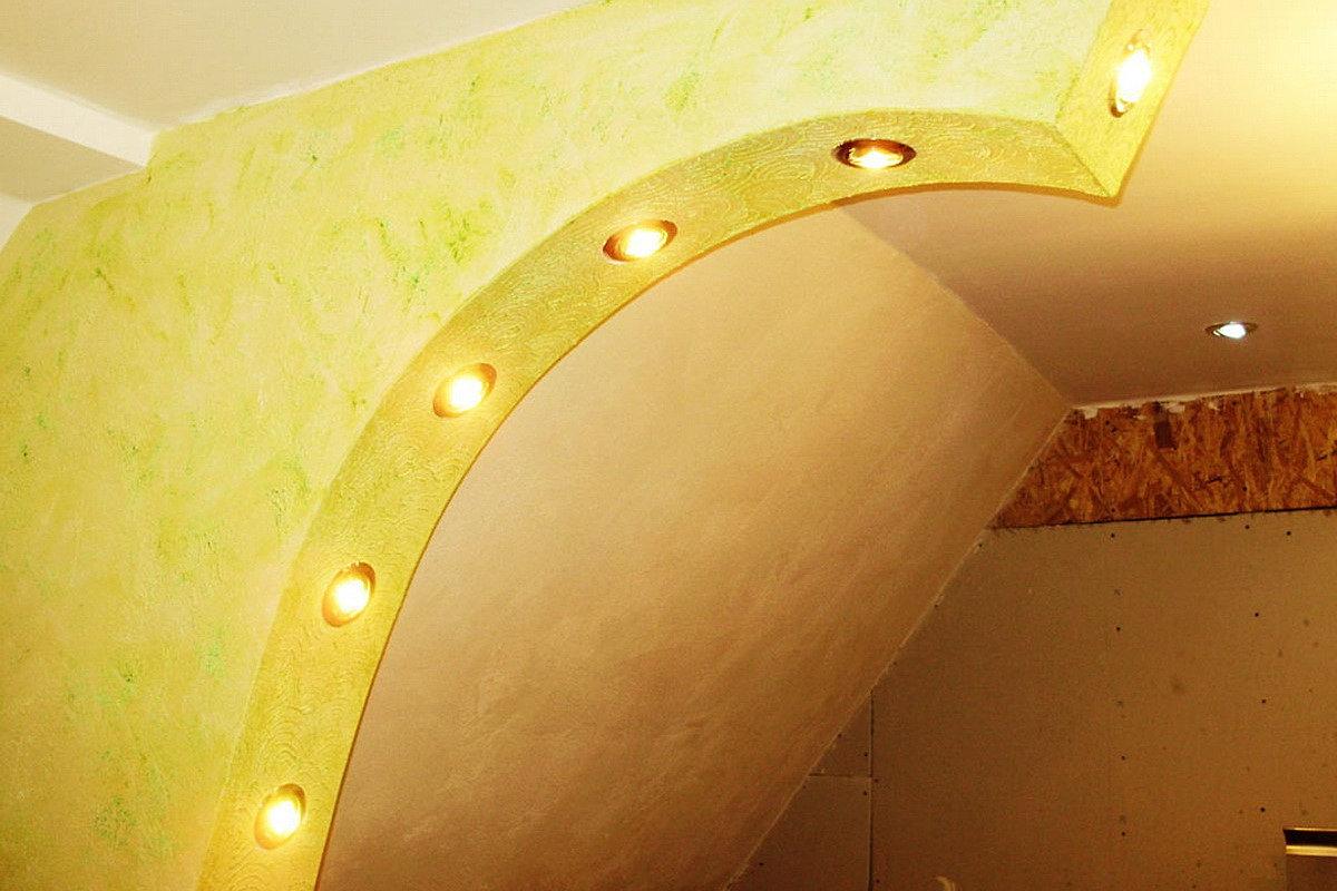 Модели арок из гипсокартона фото