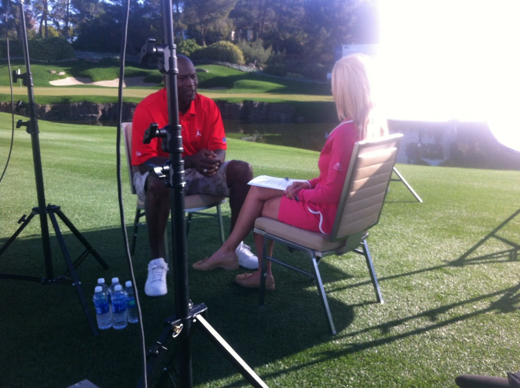Interviewing Michael Jordan