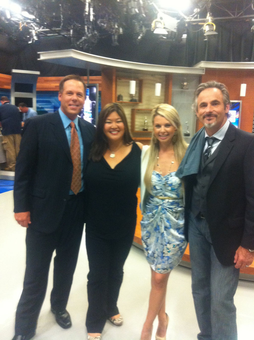 With Feherty and Christina Kim