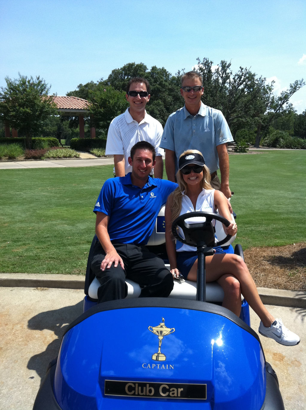 Crew on Euro Ryder Cup Cart