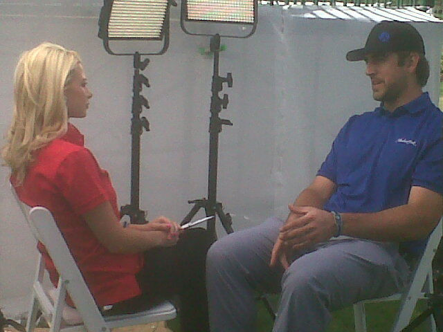 Win Interviewing Aaron Rodgers