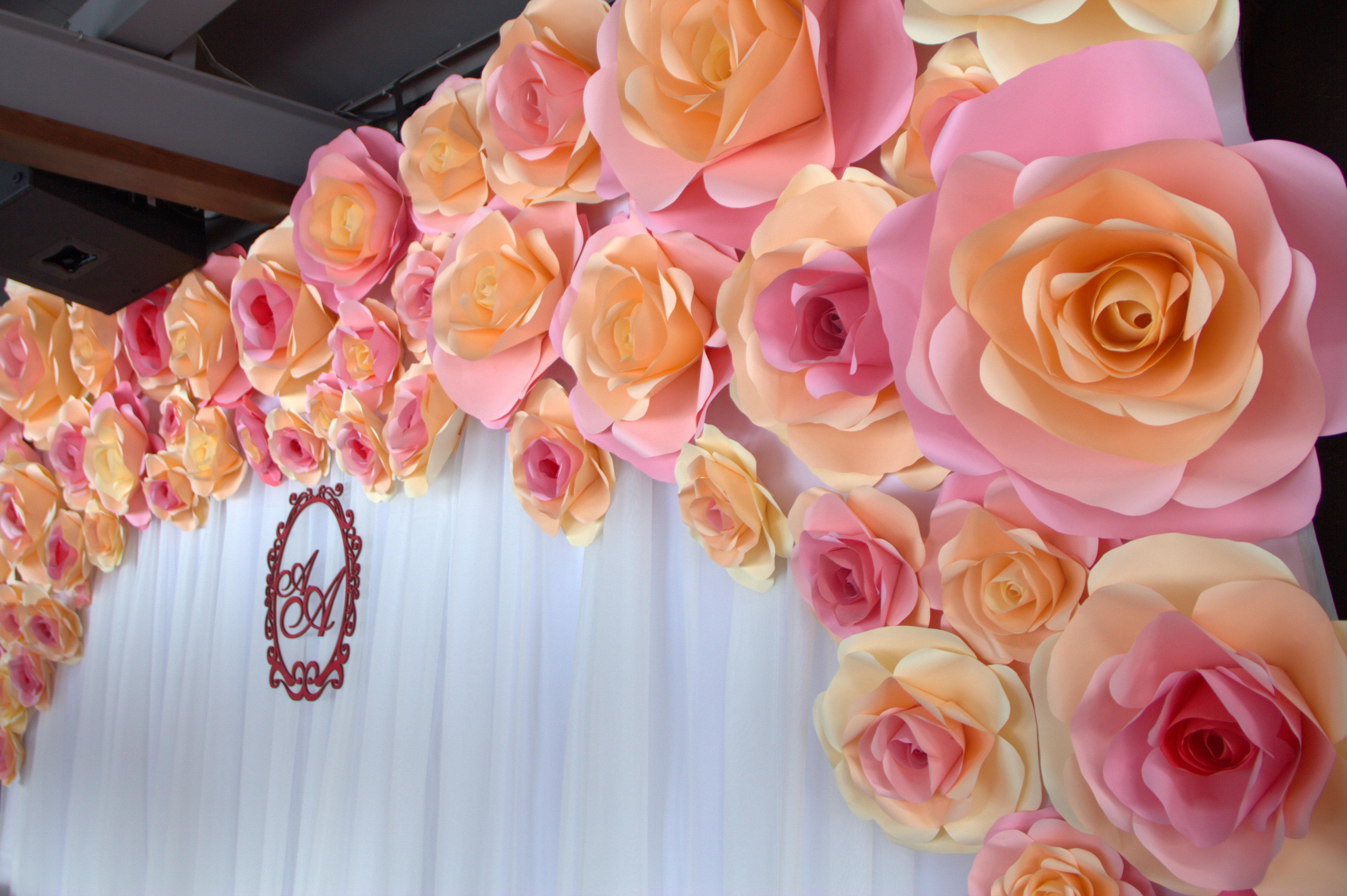 Фото больших цветов из бумаги