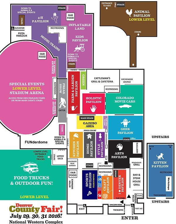 Denvercountyfair Fair Map - Denver county map