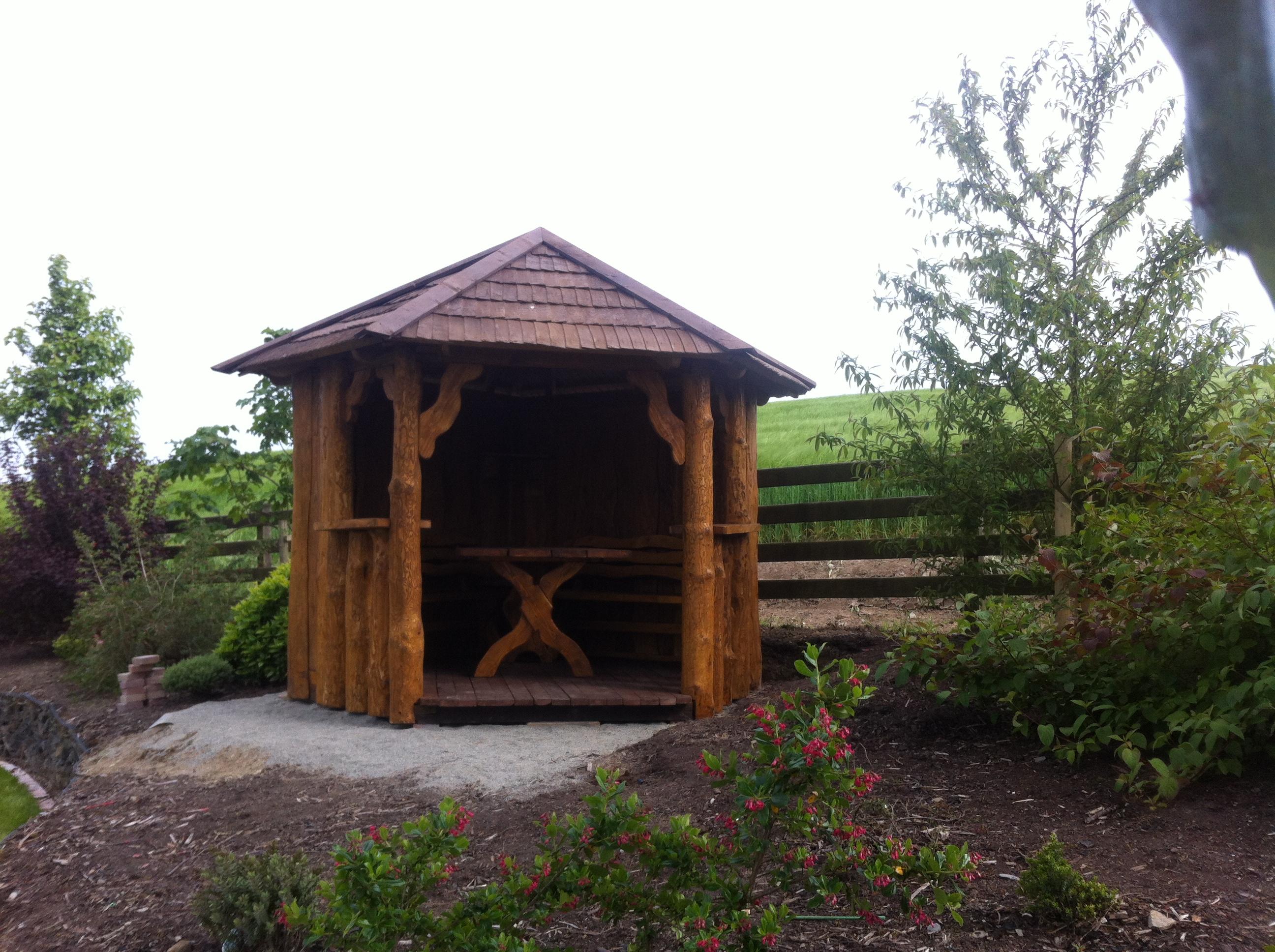 Gazebo 5 Corner Unique Oak Garden Furniture Woodcraft