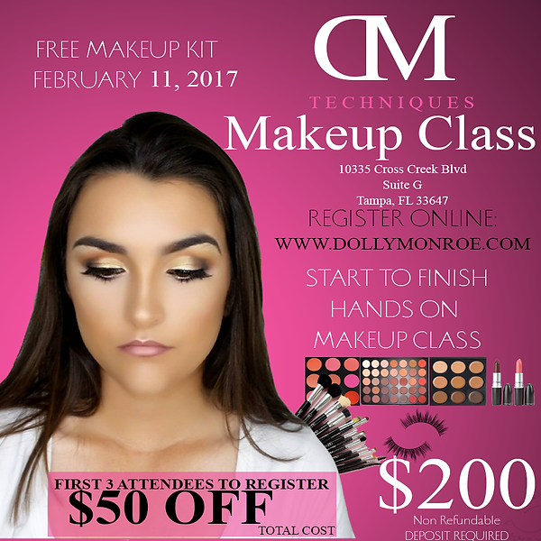 Makeup Class in Tampa Pro Academy or Individuals