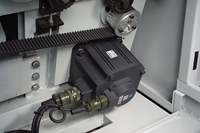 Mitsubishi high quality servo motor and driver features precise calculations and high efficiency.