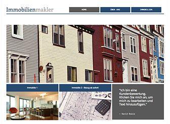 Immobilien-Gruppe Template - Eine professionelle Vorlage für Ihre Immobilienfirma. Ändern Sie die Texte und laden Sie Bilder Ihrer Objekte hoch. Überzeugen Sie Ihre Kunden mit dieser individuellen Website.
