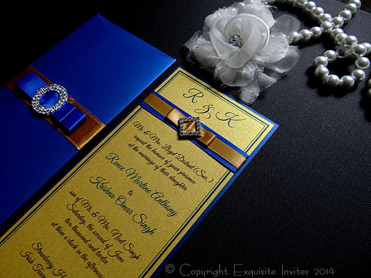 Blue And Gold Wedding Invitations for good invitations layout