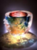 Leon Applebaum Textured Bowl Glass Art