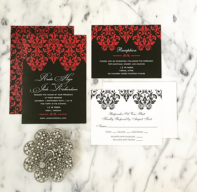 Gallery Wedding Invitations – Black White and Red Wedding Invitations