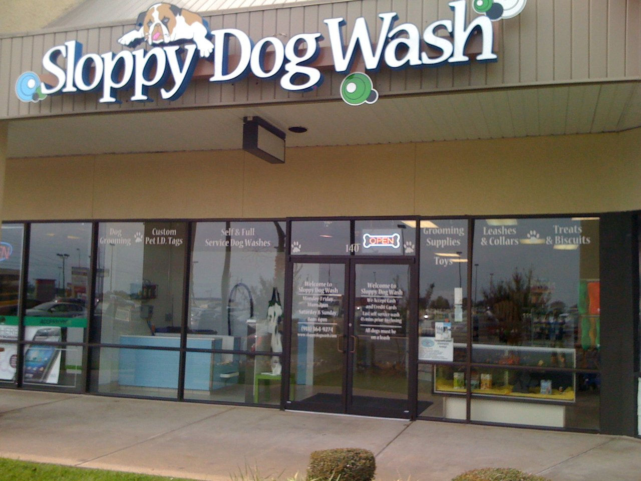 Sloppy dog wash is a premier dog wash and dog grooming facilty in ba storefrontg solutioingenieria Image collections