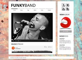 Punk Müzik Grubu Template - Bu harika şablon ile becerilerinizi herkese duyurun. Kendi bilginizi ekleyin ve müziklerinizi internete taşıyın!