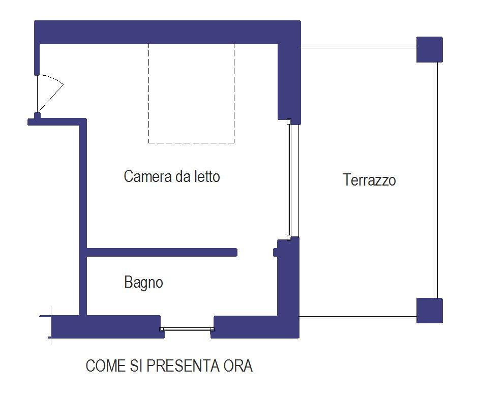 CAMERA CON CABINA ARMADIO E BAGNO A VARESE | Progettare casa online ...