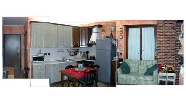Soggiorno cucina pranzo per 4 tutto in 19 mq progettare casa online e non gratis due locali - Arredare cucina soggiorno 20 mq ...