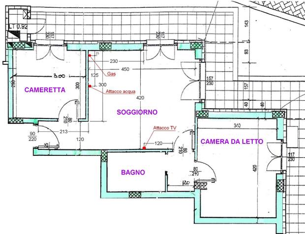 Soggiorno cucina pranzo per 4 tutto in 19 mq for Disegnare casa on line