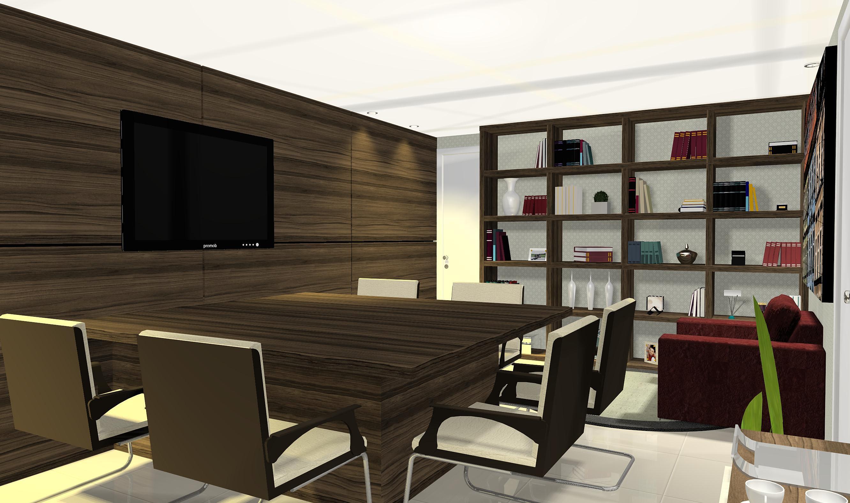 Designer de Interiores Goiânia Escritório de Advocacia T&B #4C6027 2664x1580