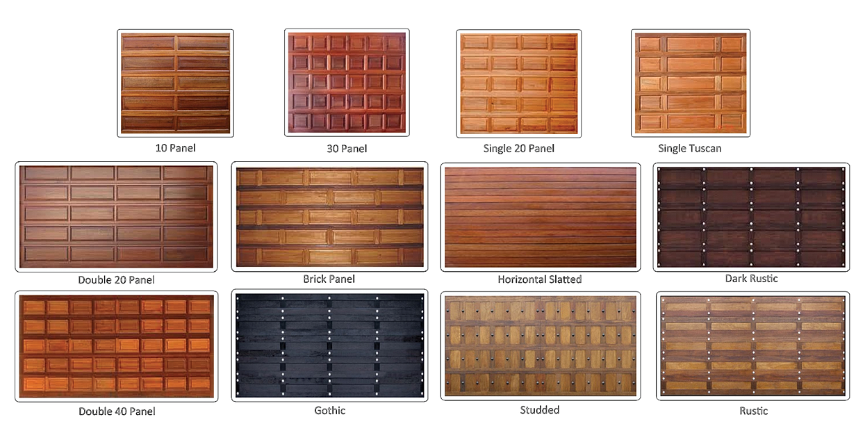Aladdin Wooden Garage Door Options