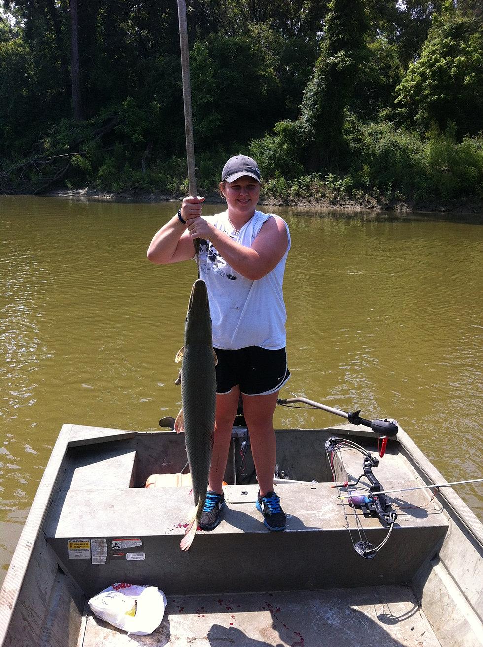 Texas gar fishing rod reel bowfishing trips for for Trinity river fishing spots