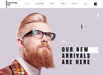 Eyewear Store Template - With a modern design, striking font and a bold and edgy layout, this is the perfect eCommerce template for anyone wishing to wow their customers. With Wix Stores, managing your site has never been easier! Simply upload images of your product and customize descriptions and prices to get started! Add promotions and other exciting offers to entice your customers further and watch as your online store flourishes!