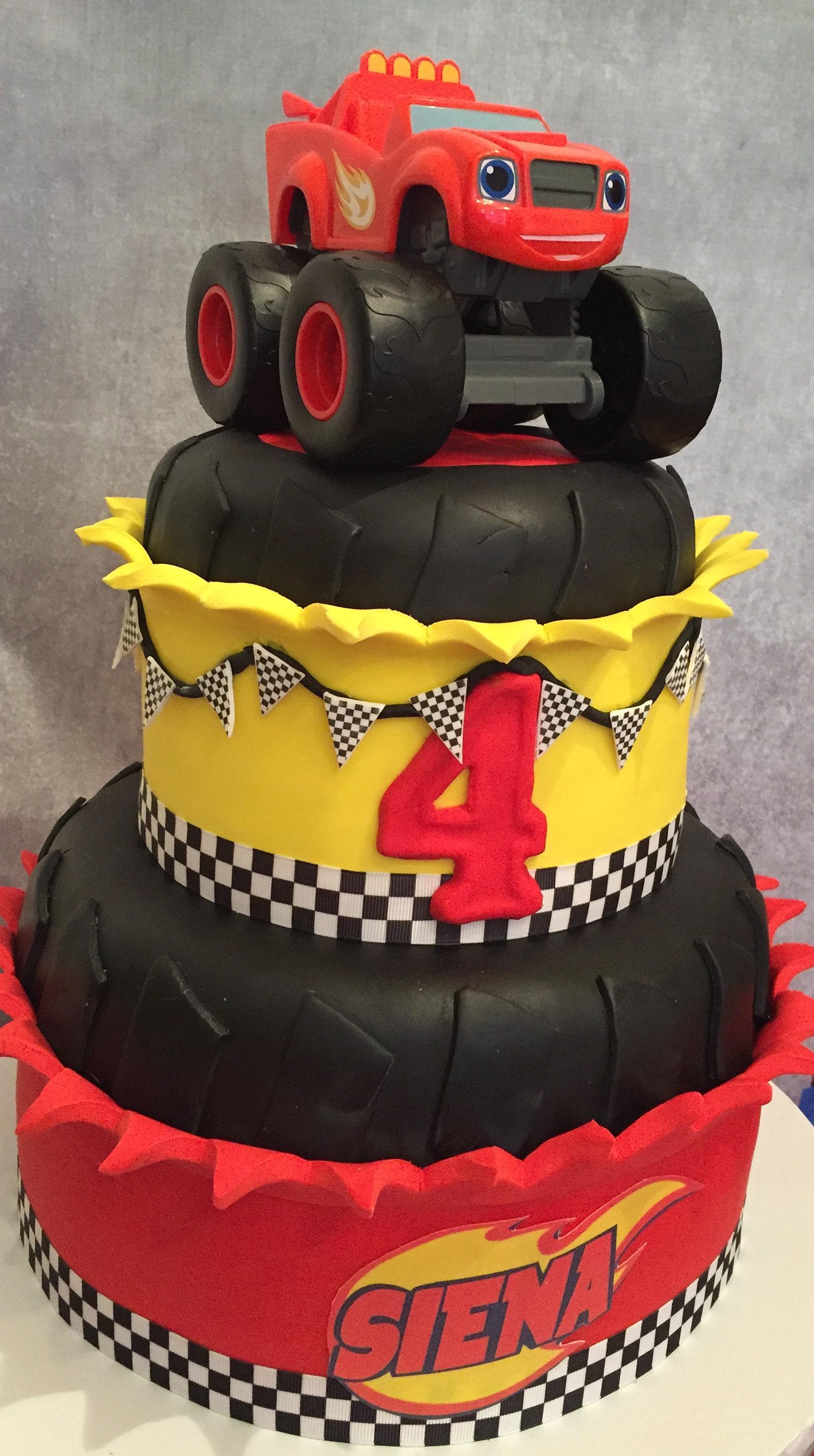 Blaze Birthday Cake Topper