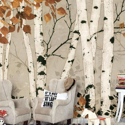 Eco chic wallpaper birch trees - apollo 13 damage photo
