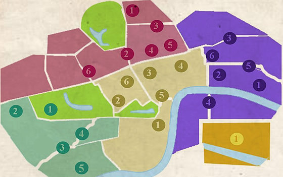 Londres a tu manera, mapa londres