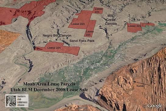 Google earth of BLM parcels