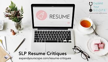 slp resume critiques