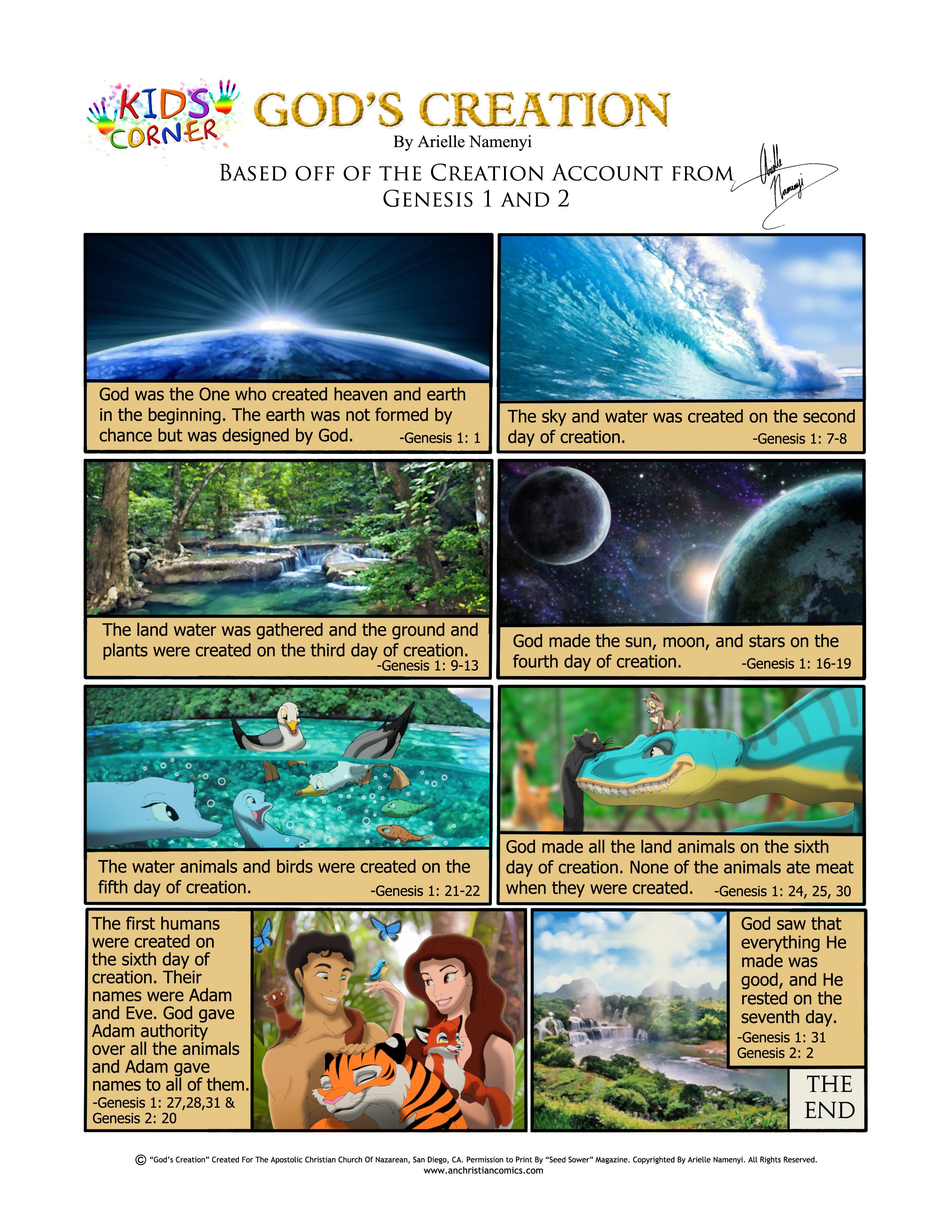 god u0027s creation comic anchristiancomics